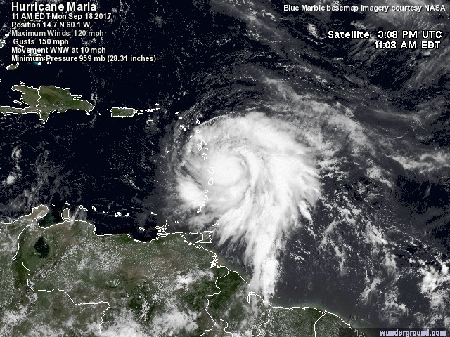 Maria satellite image