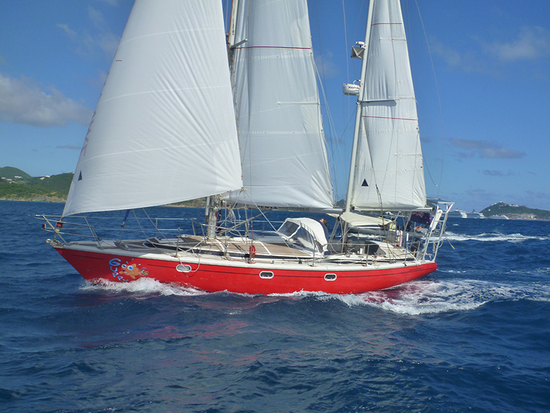 Guppy under sail