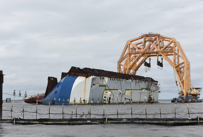 GOLDEN RAY SALVAGE:  Second Chunk of the Ship is Gone