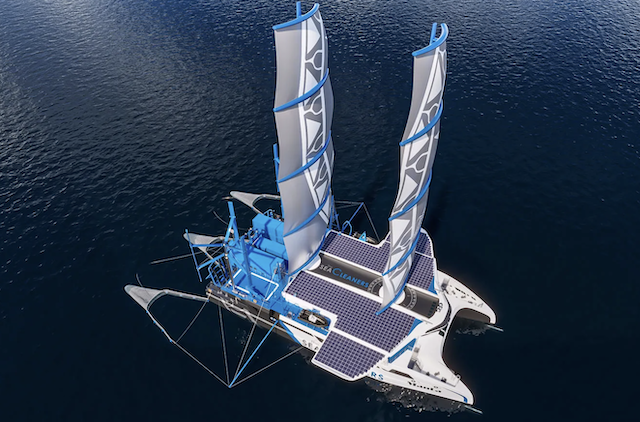 PICKING UP THE TRASH: Giant Square-Rigged Catamaran to Hoover Up Plastic at Sea